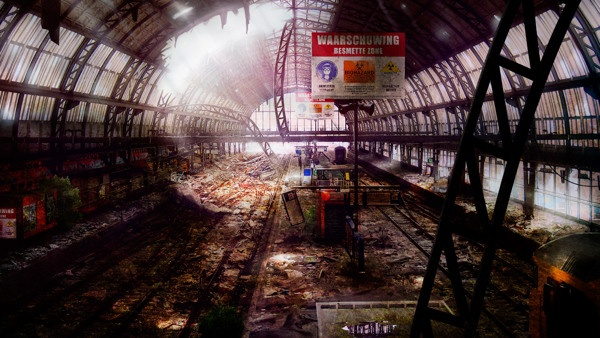Abandoned Amsterdam Central Station - Time lapse video by Roy Korpel, via Behance