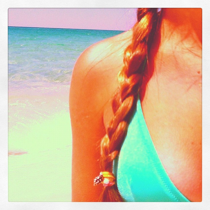 tie dye shell hair ties by Bella Beach JewelsTie Dye, Beach Jewels, Beach Crafts, Shells Hair, Hair Ties, Ties Dyes, Bella Beach, Dyes Shells