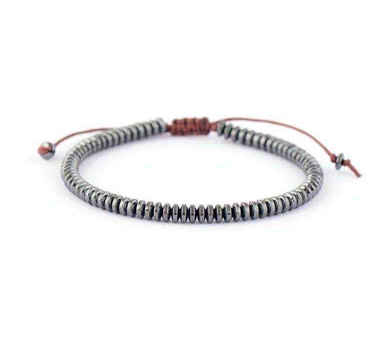 Hematite Stone Shamballa Bracelet