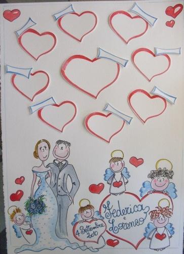 Federica e Lorenzo tableau marriage