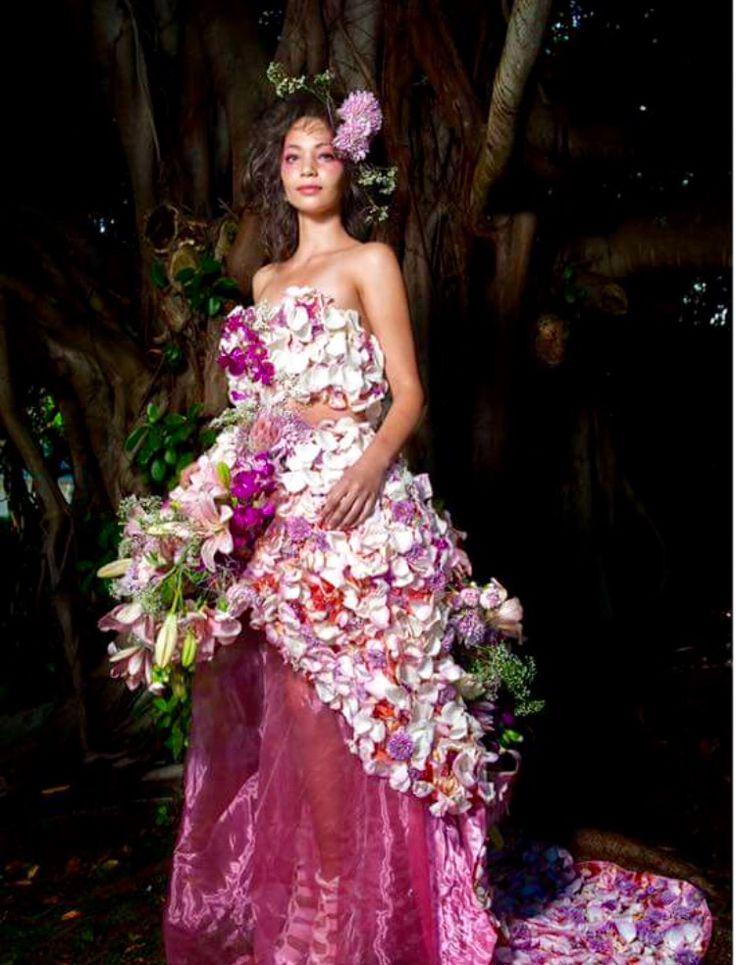 Inspired by Gucci Flora, Garden Collection Gardenia  Floral Design / Styling: Fayette Make-up: Smashbox International, Nolan Plaaties Hair: Bliss Hair Photo: Craig Anderson