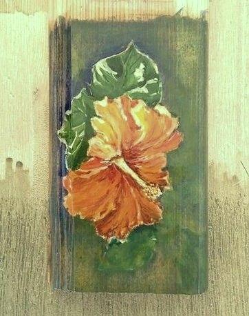 My favorite flower. Gouache on wood