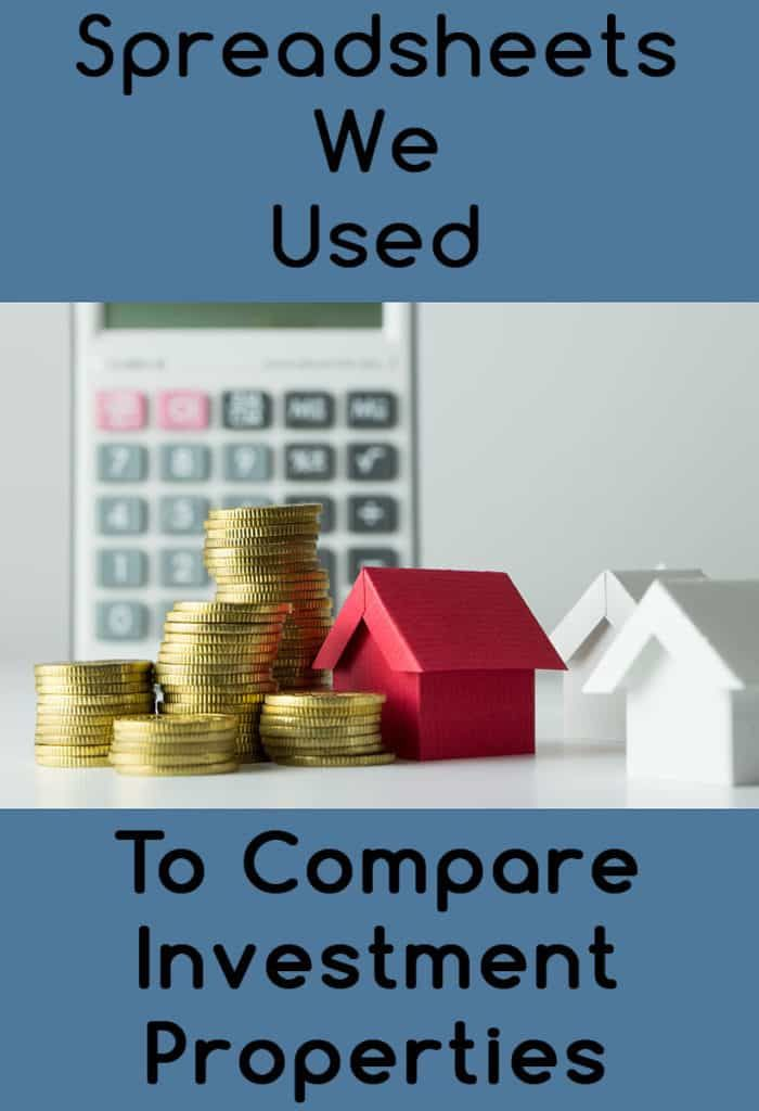 Spreadsheet to Compare Rental Property Investment Options House - real estate investment spreadsheet