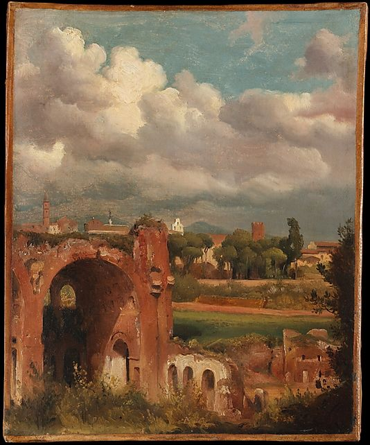 View of the Basilica of Constantine from the Palatine, Rome Charles Rémond (French, Paris 1795–1875 Paris)
