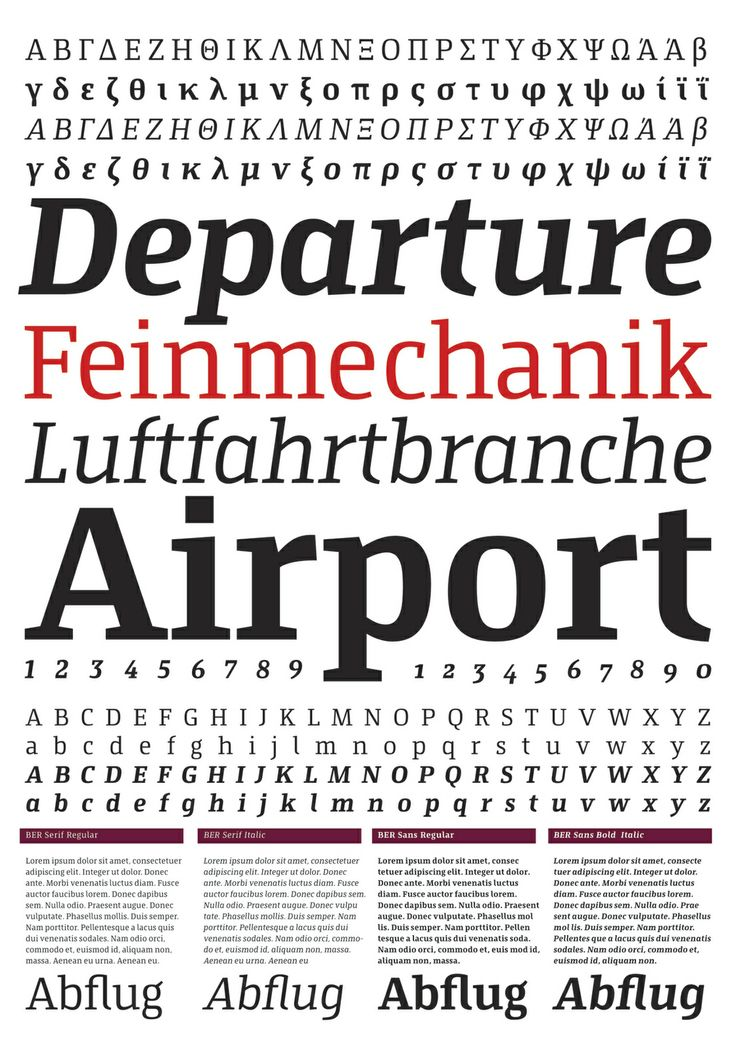 Bronze Award for Corporate Font for the new Berlin Airport BER by xplicit GmbH (2012)