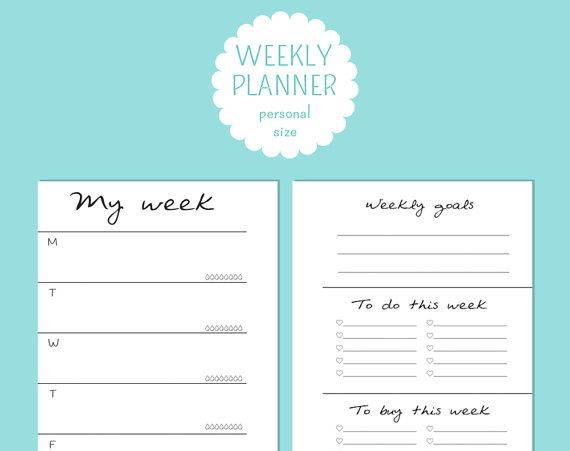 Have you ever wanted a week planner AND weekly lists at a glance? Now you can! || Personal size undated WO1P  weekly NOTES di TheLittlePlannerShop