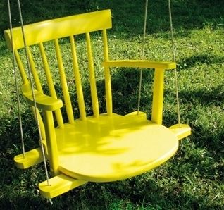 Diy swing - very clever!
