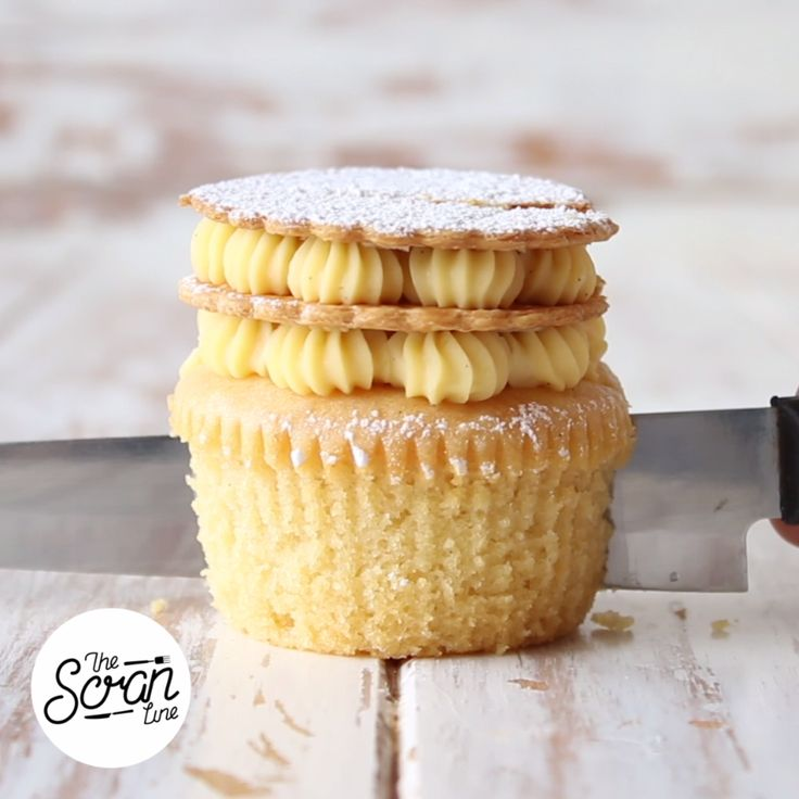 Inspired by French pastry, this gorgeous vanilla bean cupcake is as yummy as it looks. Save the recipe on our app! http://link.tastemade.com/HE7m/H1wHe4m2mA
