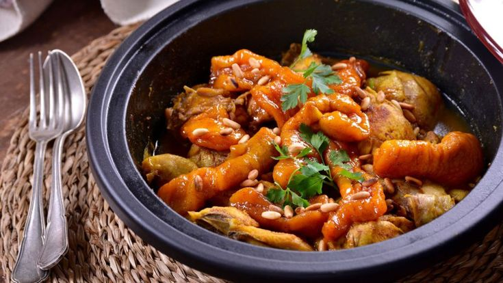 Tajín de pollo con albaricoques (Tajin bel djaj) - Najat Kaanache - Receta…