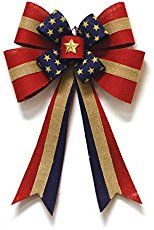 Independence Day celebrations are just around the corner and if you are like me, you like to decorate your home and make it look festive! To help you with your decorating, I thought I would show you how to make a popular multi ribbon patriotic bow to be used in a wreath. Of course you can use this bow also on your mailbox, on a garland, swag, etc. Make sure to scroll to the bottom of the post for a video on how to make this popular multi ribbon patriotic bow.