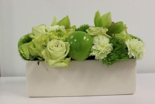 Green apple centerpieces | Mixed Green Decor, Green Centerpieces, Green Apple…