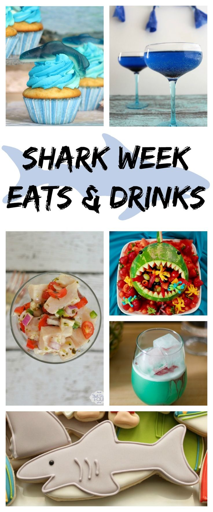 Eats and Drinks for a Shark Week Party