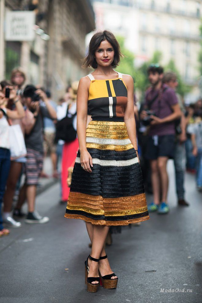Уличная мода: Из лета в осень: геометрические принты на улицах города