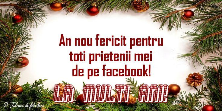 An nou fericit pentru toți prietenii mei de pe facebook!