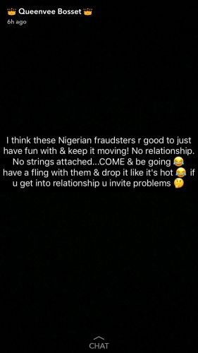 Nigerian Fraudsters Are Good To Just Have A Fling With & Move On  Vera Sidika Warns Ladies