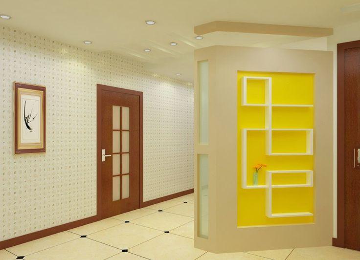 Ci sono anche delle tendenze per la pittura degli interni,. Decorative Wooden Partition Wall In Modern Living Room Design Decorative Room Dividers Room Partition Wall Modern Wall Niche