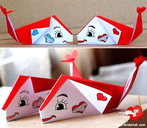 Origami Valentine DIY