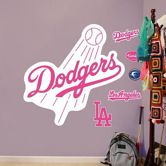 Los Angeles Dodgers Pink Logo