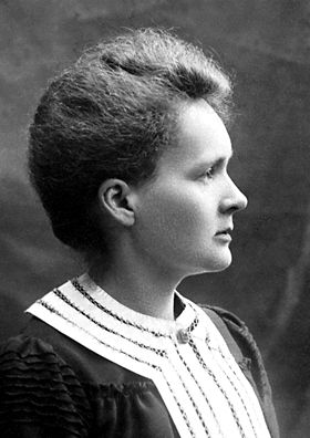 Marie Curie, Polish physicist and chemist, also the first woman to be awarded the Nobel Prize.