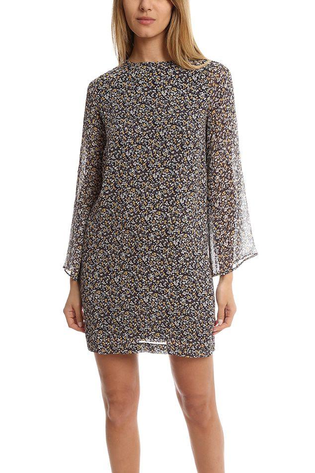 Ganni Allen Georgette Dress | Blue&Cream