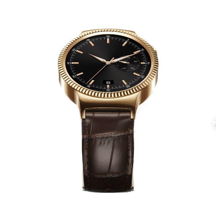 Apercu Image 3 Huawei Montre connectée Huawei Watch Elite Gold Bracelet Cuir Marron