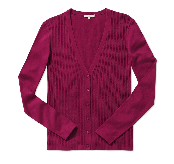 Mix Apparel - Cable front cardigan