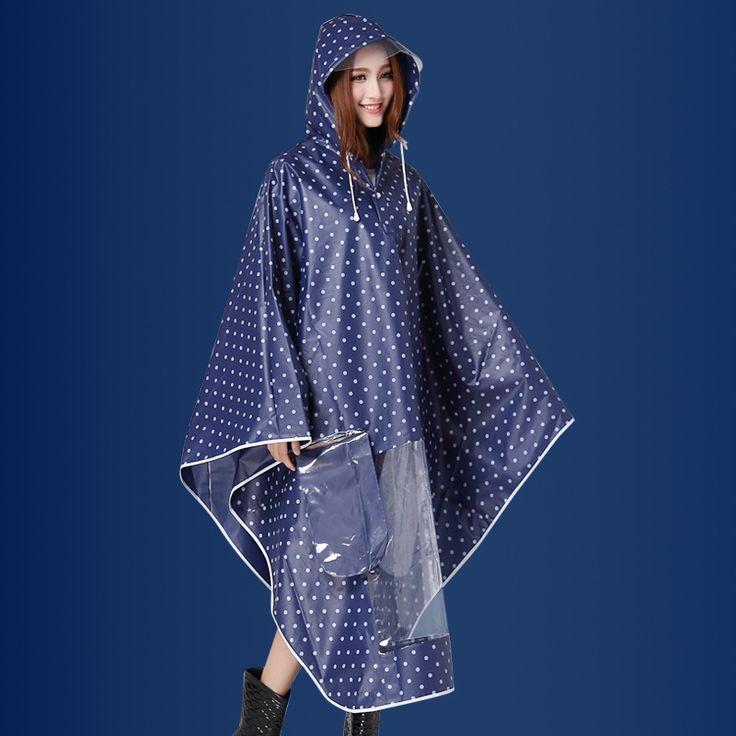 Fashion Spotted EVA Girl Women Motorcycle/Electrombile Rainwear Raincoat Bicycle Rain Jacket Rain Coat Rainwear Poncho Rain Gear