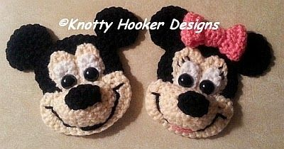 Darling little mouse appliques, perfect for a blanket, bag, tissue box cover, etc.  Pattern is rated EASY and they work up super fast.  Anot...