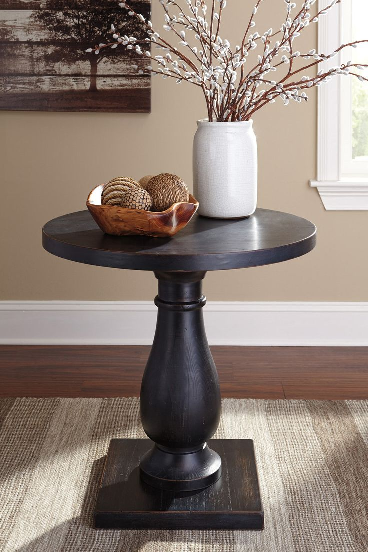 Rustic Accents Round End Table | Ashley | Home Gallery Stores