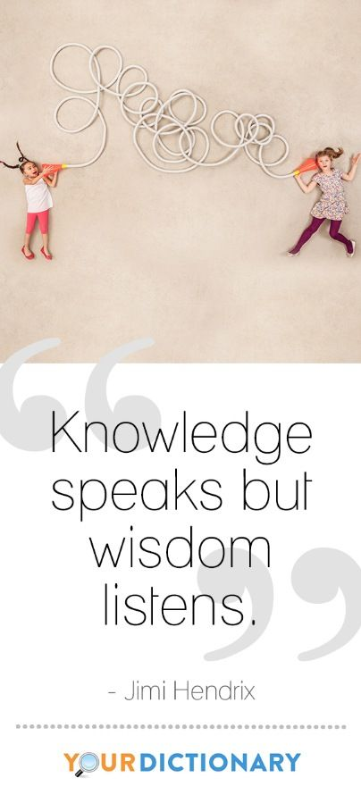 """Knowledge speaks but wisdom listens."" - Jimi Hendrix #qotd #quote #YourDictionary"