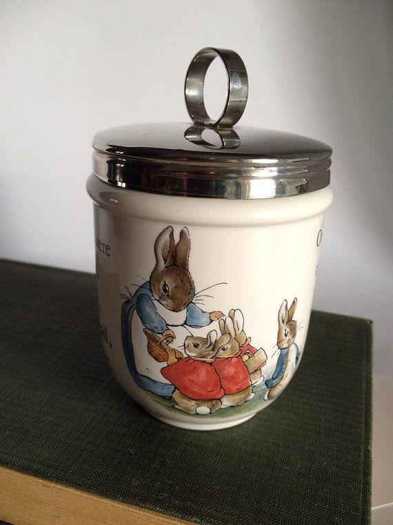 Wedgwood Peter Rabbit Egg Coddler by TwoGreysVintage on Etsy, $45.00