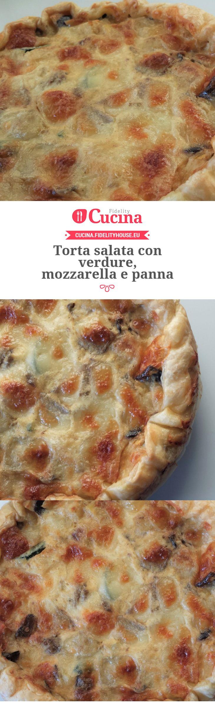 Torta salata con verdure, mozzarella e panna della nostra utente Giada. Unisciti alla nostra Community ed invia le tue ricette!