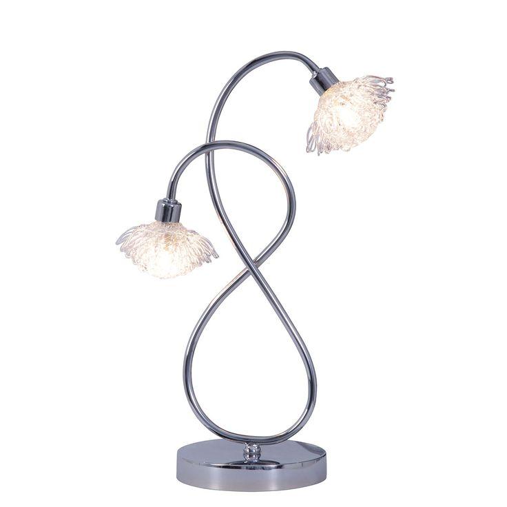 EEK C, Tischleuchte - Metall/Glas - Silber - 2-flammig, Näve