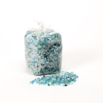 MINI POLISHED STONES - stunning vibrant turquoise mini glass pebbles perfect for display or vase filler
