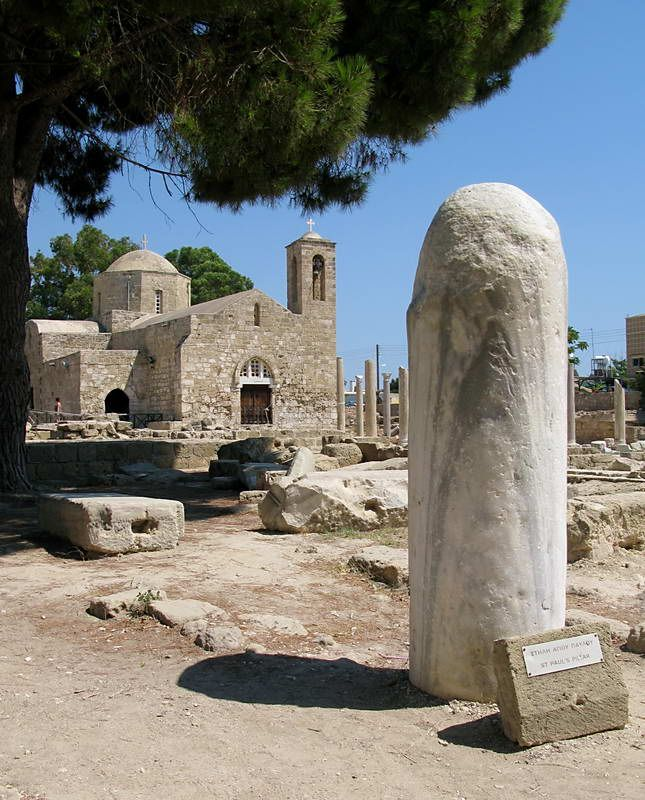 St Paul's Pillar is located in #Paphos and is on the same site as the Early christian Basilica, Ayia Kyriaki Church and the The Gothic Church. St. Paul was allegedly tied to this pillar in 45 A.D. and was given 39 lashes for preaching Christianity. #Cyprus #kitsakis