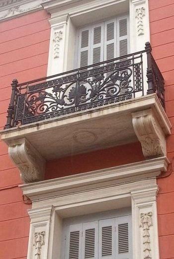 Neoclassical balcony..