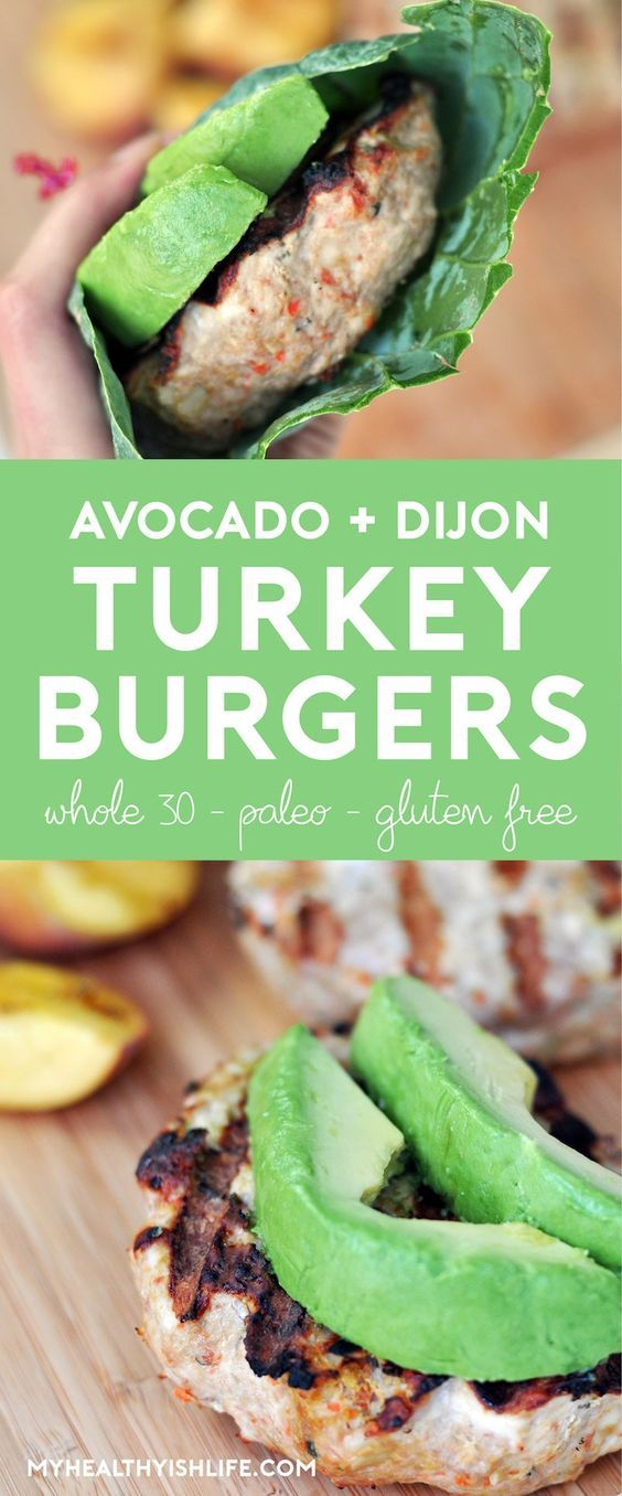 Fire up the grill! This summer-friendly turkey burger is loaded with flavor...avocado, Dijon, basil, lemon and more. Wrapped in collard greens, this burger is Whole 30-approved, paleo and gluten-free.