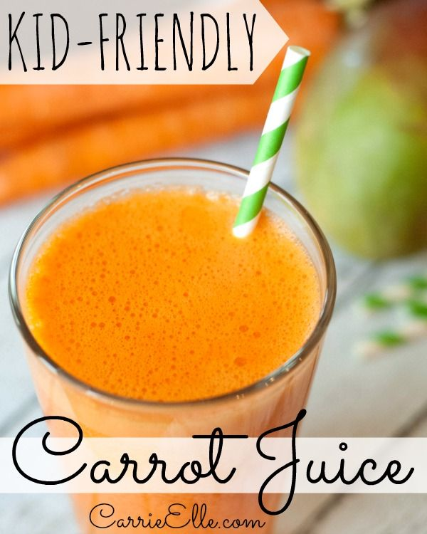 Healthy Carrot Juice Recipe for Kids