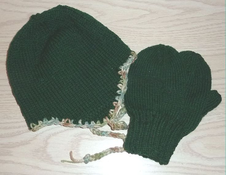 Handmade Children Hat and Mitten Set 12 months / 3 years by SouthamptonCreations on Etsy