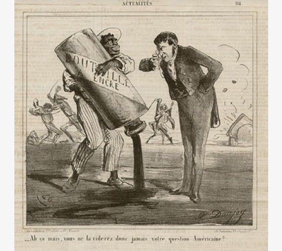 American Civil War French caricature lithograph Le Charivari