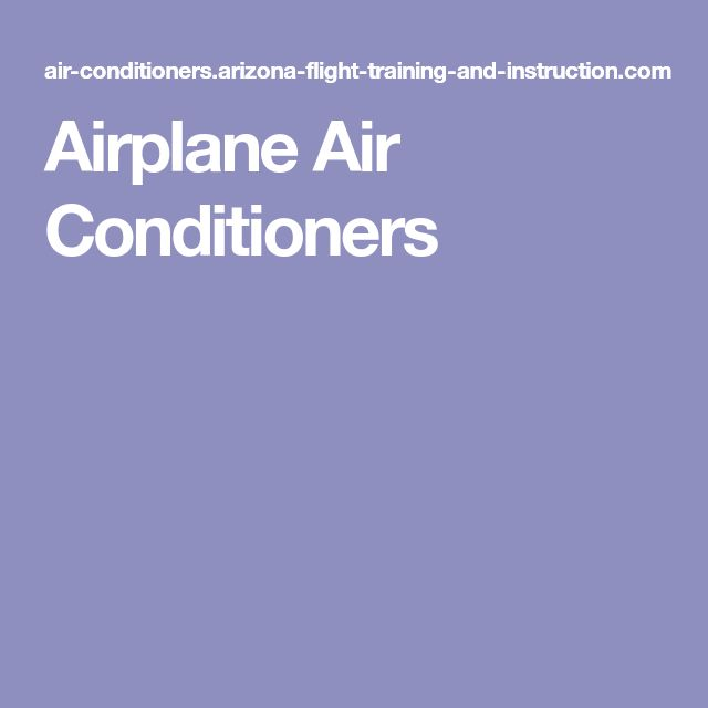 Airplane Air Conditioners