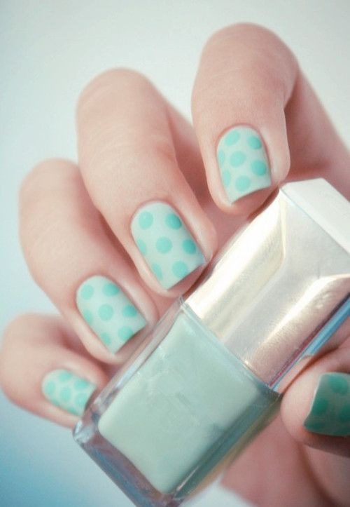 teal polka dot nails nails nail teal pretty nails nail art polka dot nail ideas nail