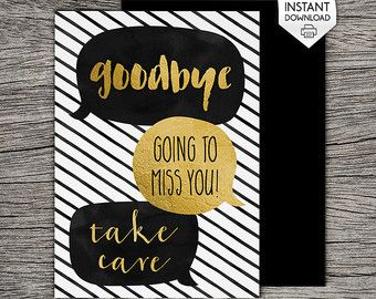 "A funny goodbye card ... *hint hint* give a box of donuts with the card, it might cheer you both up :)  This listing includes wording I donut .... and We donut ....  Just download and print the one that is applicable to you.  My other Farewell/Goodbye Cards: http://www.etsy.com/shop/RiverRainDesigns?section_id=17449600   ***** YOU WILL RECEIVE *****  A high resolution (300dpi) INSTANT PDF DOWNLOAD . The folded card size is 5""x7"" and blank inside.  The card will fit perfectly on Letter or A4…"
