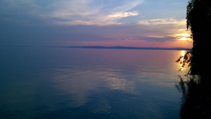 Sunset over lake Balaton