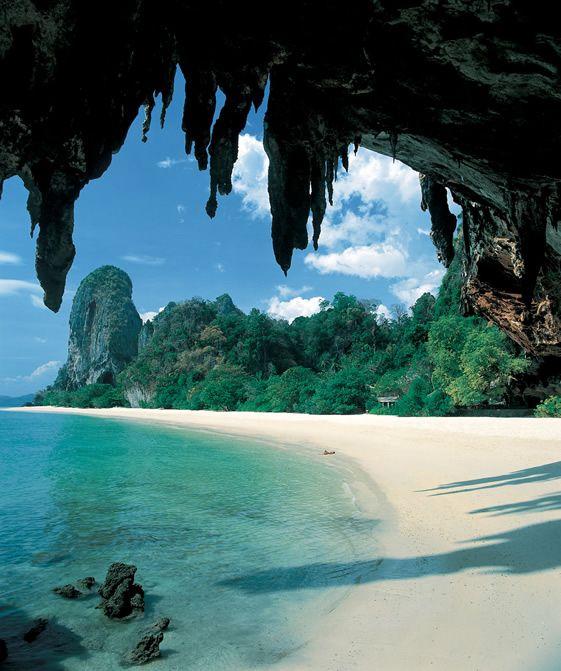 Krabi National Marine Park, Railay Beach, Thailand.