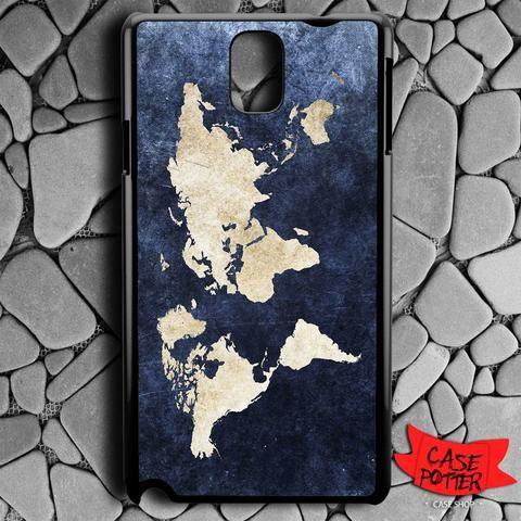World Grunge Map Samsung Galaxy Note 3 Black Case
