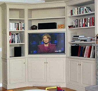 Handmade Built-In Corner Entertainment Center by R.E. Higgins-Steele, Inc. | CustomMade.com