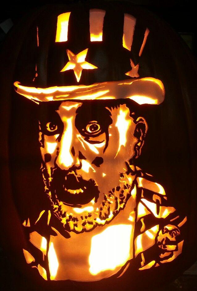 captain spaulding devils rejects pumpkin carving