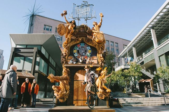 W+K Made a Giant, Amazing Cuckoo Clock Out of an Oregon Maple for Portland Tourism | Adweek