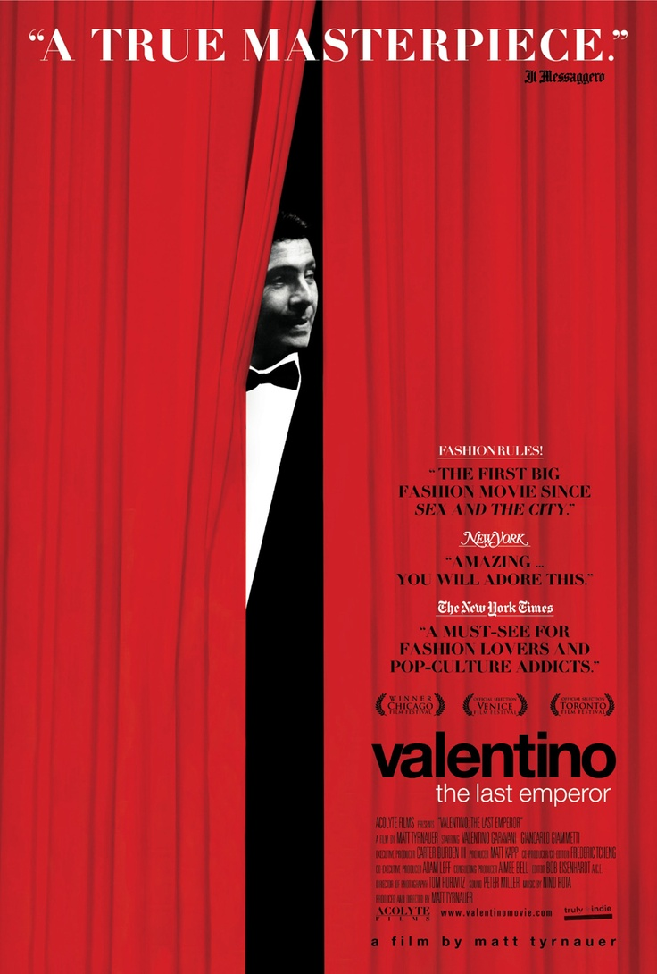 Valentino: The Last Emperor de Matt Tyrnauer © 2009 Acolyte Films